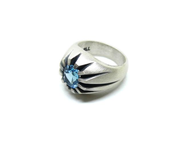 claws ring - topazio azzurro